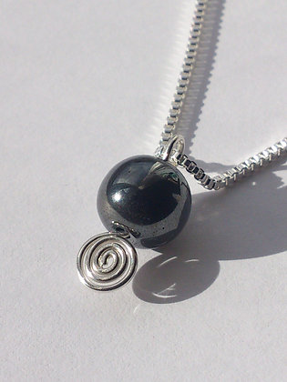 Sterling Silver  Hematite Necklace