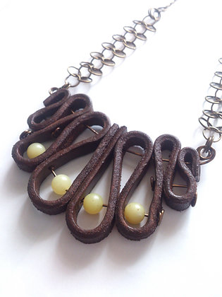 Lemon Jade Leather Necklace