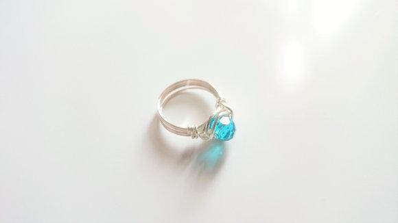 Blue Swarovski Element