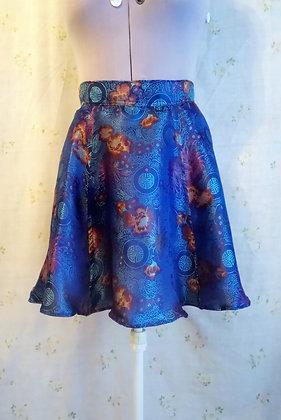 Chinese Pattern Fllounce Skirt