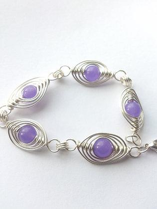 Jade Herringbone Weave Bracelet
