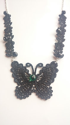 Guipure Lace Swarovski Elements Gothic Necklace