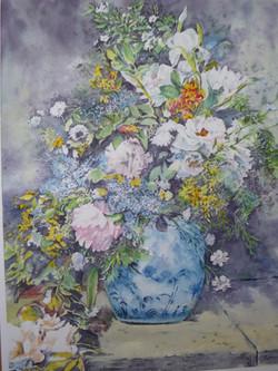 2021.4 春の花(ルノアール模写)