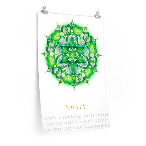 Visionary Heart Chakra - Premium Matte Vertical Poster