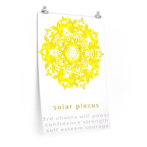Visionary Solar Plexus Chakra - Premium Matte Vertical Poster