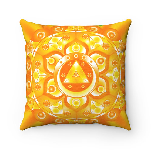 Visionary Geometric Chakras - Spun Polyester Square Pillow
