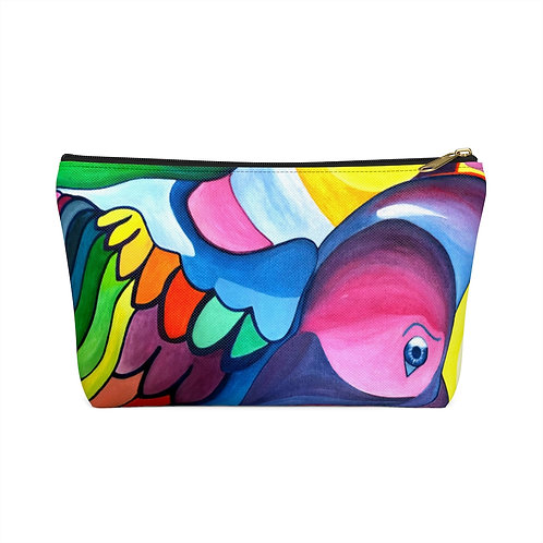 Visionary Crow Spirit Animal - Accessory Pouch w T-bottom