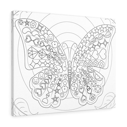 Self-Love Healing Butterfly - Canvas Gallery Wraps