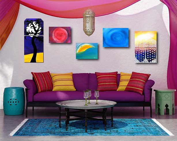 Boho Paintings Room.png