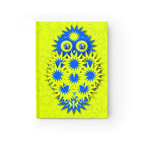 """""""You Are Wise Beyond Your Years"""" Geometric Star Owl - Journal Ruled Line"""