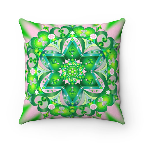 Visionary Geometric Chakras - Faux Suede Square Pillow