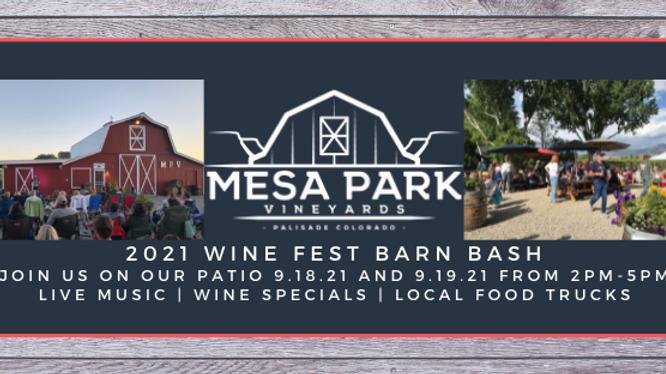2021 Wine Fest Barn Bash - Saturday