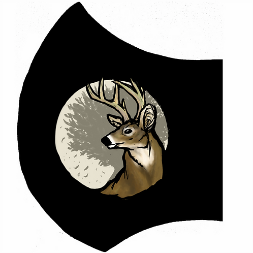 Buck Deer Black Mask