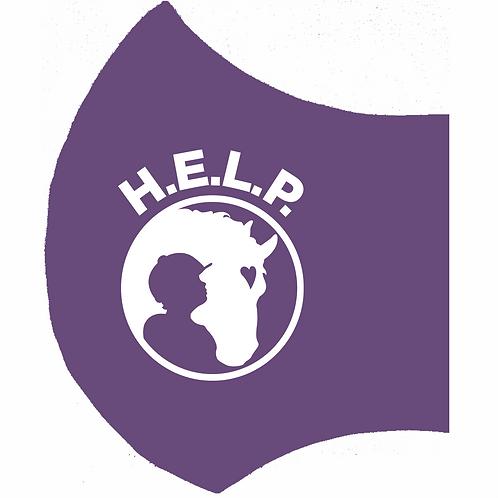 H.E.L.P. Purple Mask-Left