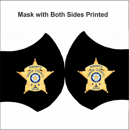 MASK-TravisCtySheriffBadge (2 Side Print)