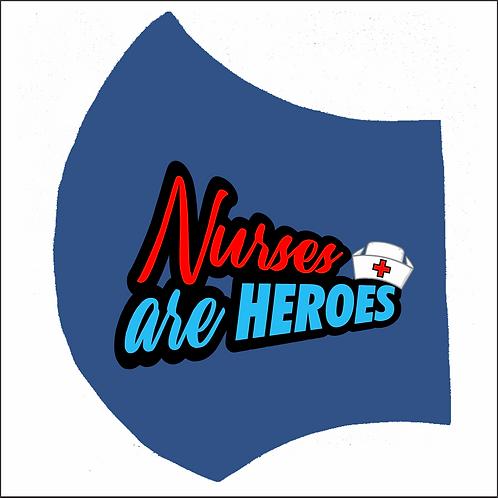 MASK-Nurses are Heroes (Left Print)