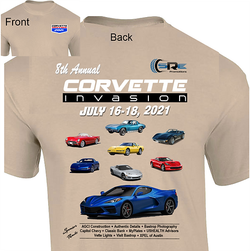 Event T-Shirt 8th Annual Corvette Invasion