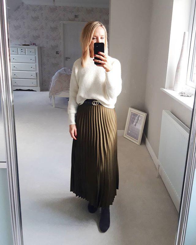 Pleated Satin Skirts