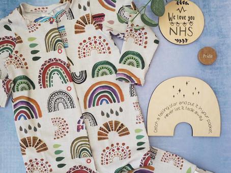 Handmade rainbow clothes for children