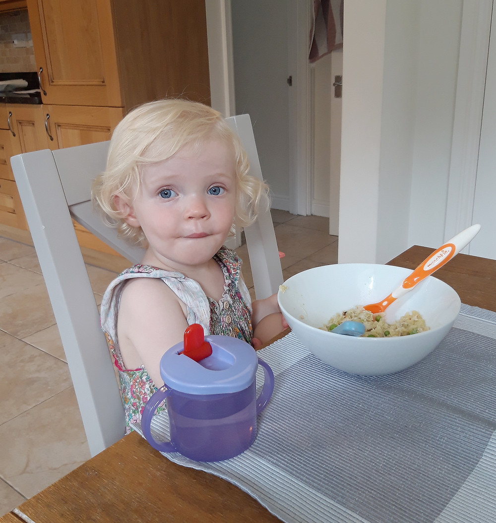 A fussy eater. Toddler.