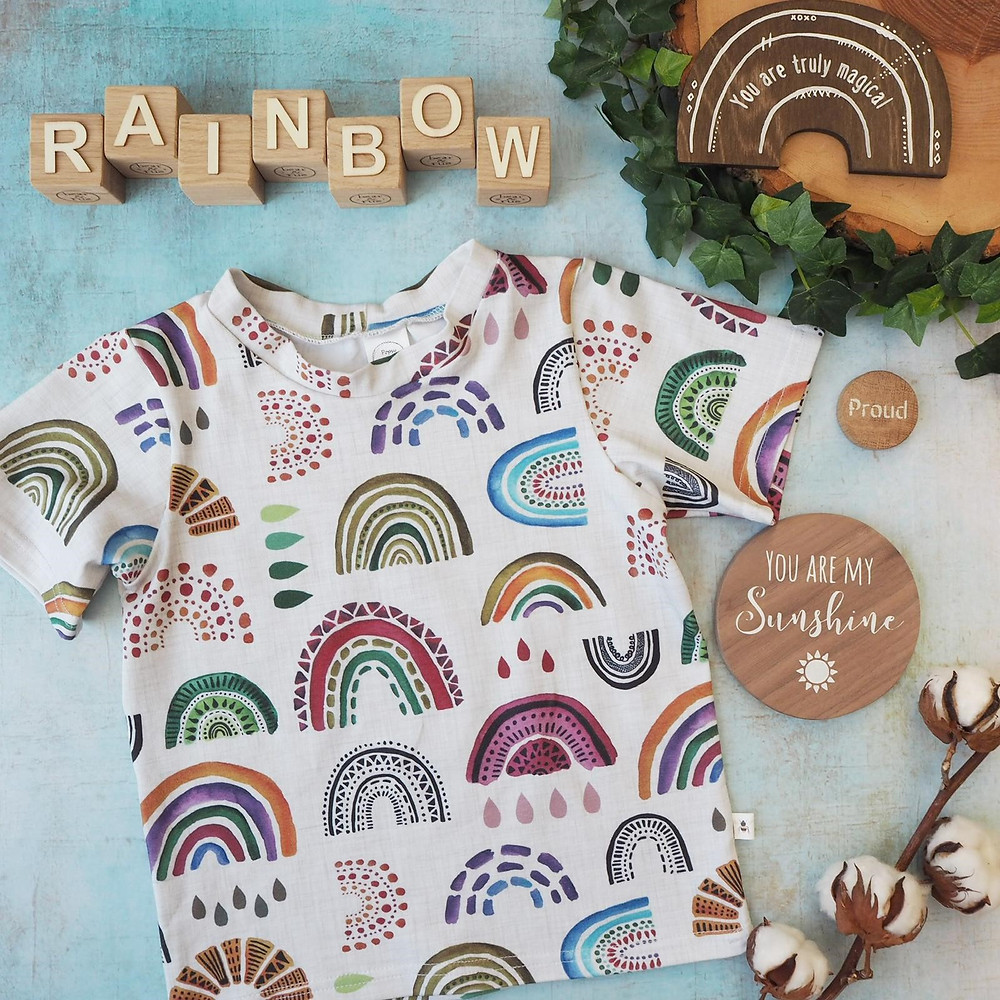 Handmade rainbow clothes for children