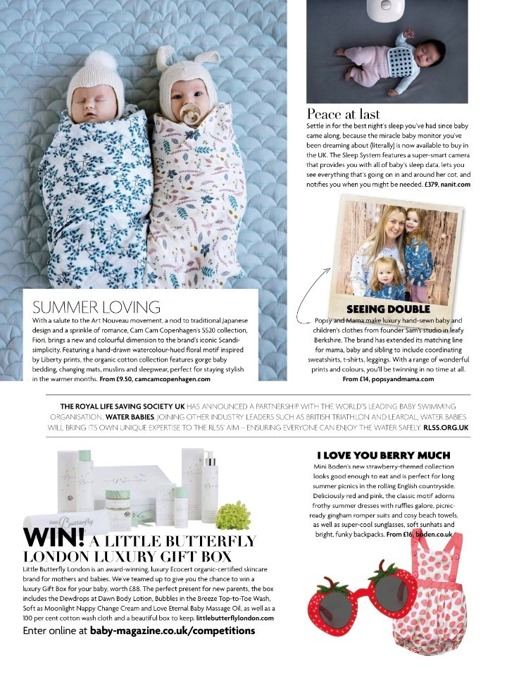 Popsy and Mama in Baby magazine