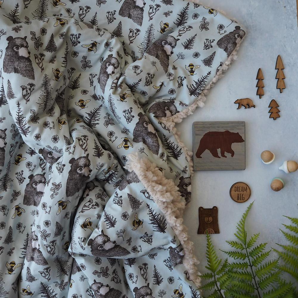 Extra large creative family blanket