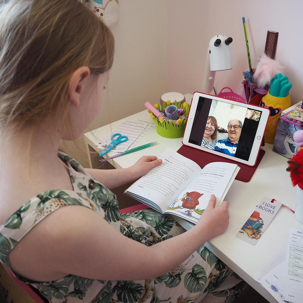 Virtually reading to grandparents