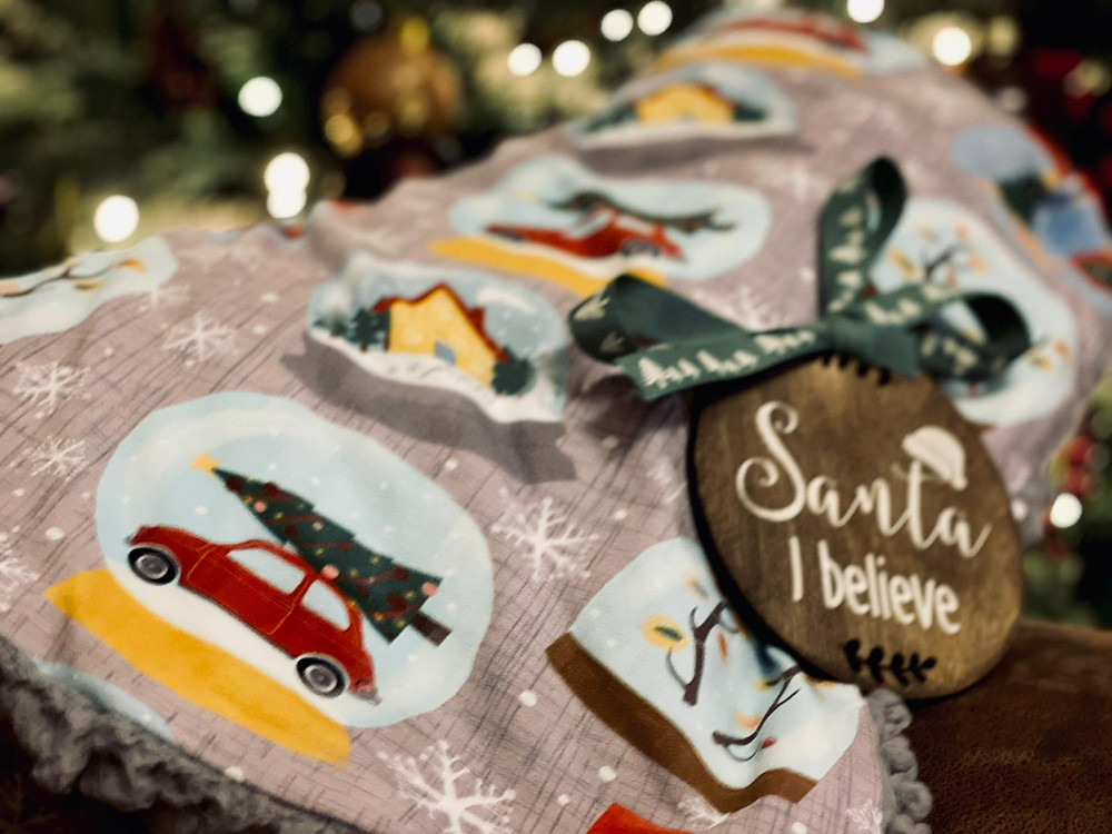 Personalised Christmas family blanket
