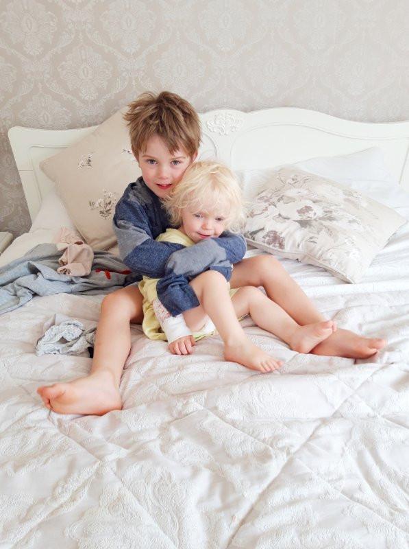 Siblings squabbling