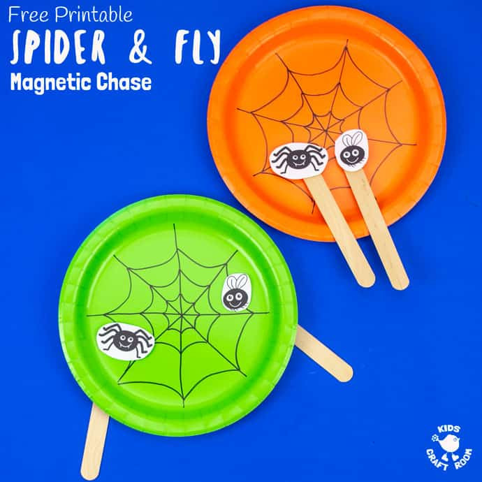 Spider and fly magnetic chase