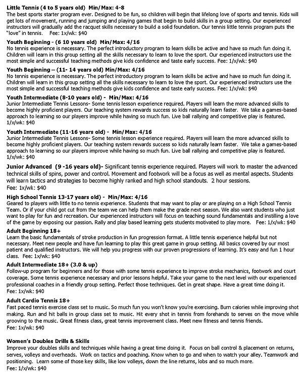 Loveland Fall 2020 Class Descriptions-pa