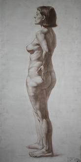 Nude figure drawing