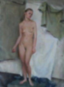 An Oil Painting of the nude figure.