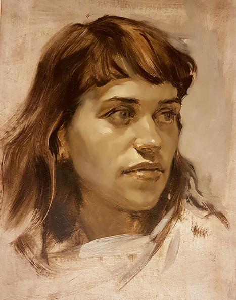 Portrait grisaille