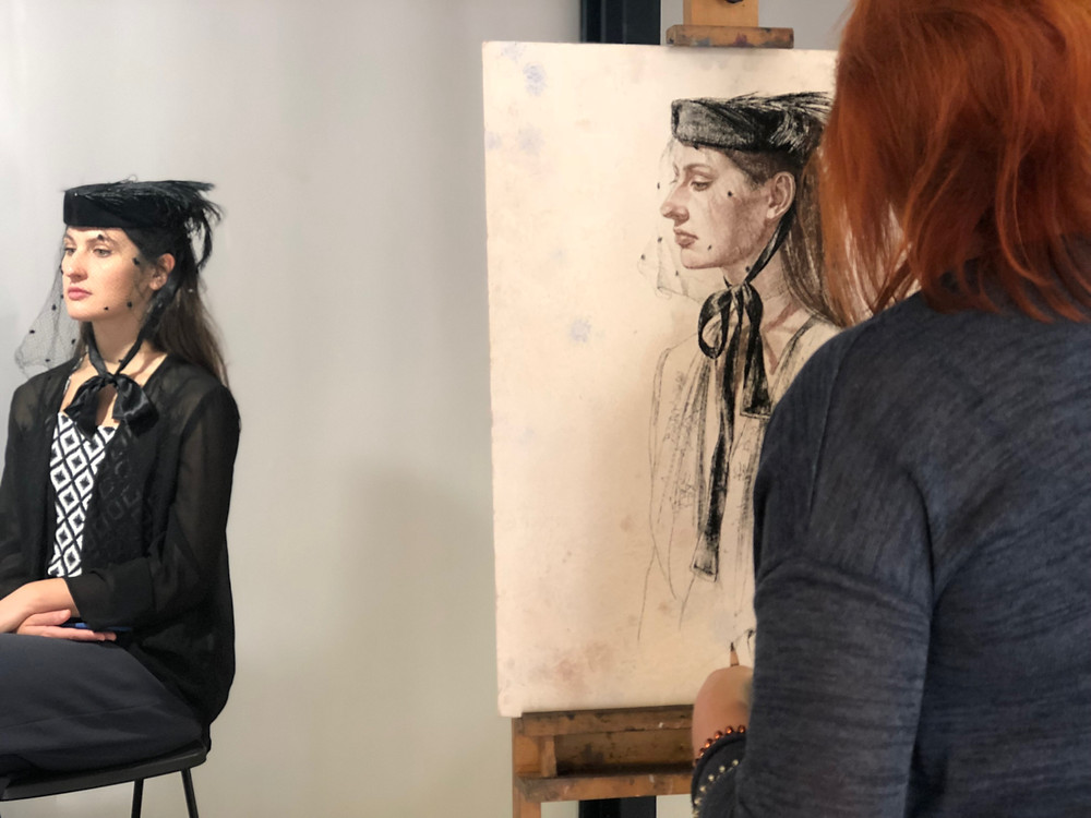 Live demo portraiture drawing