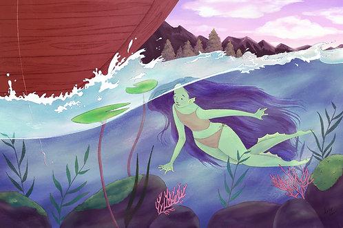 11 x 17 Print - Underwater Alluring
