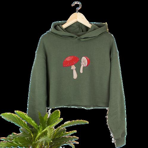 Fly Agaric - Cropped Mushroom Hoodie