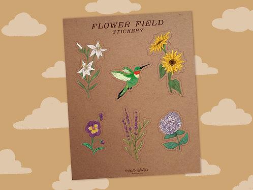 Flower Field - Sticker Sheet