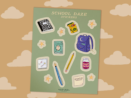 School Daze - Sticker Sheet