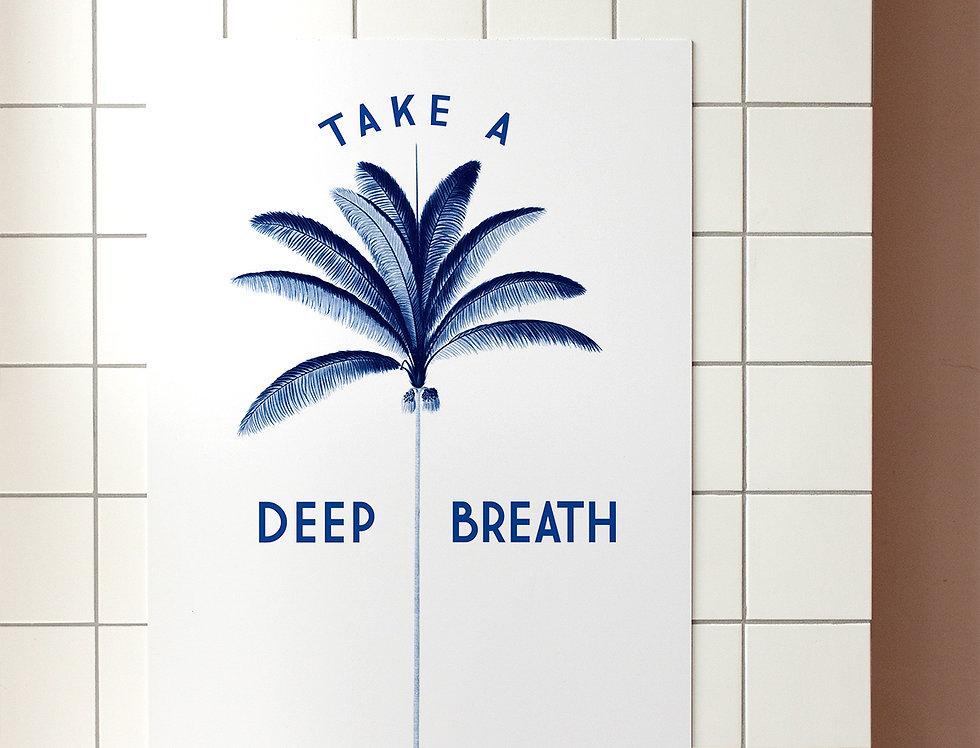 Poster Respira Fundo A3