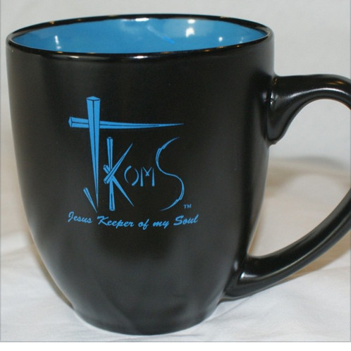 Coffee Mug Two Tone BlackBlue JKomS Jesus Keeper of my Soul