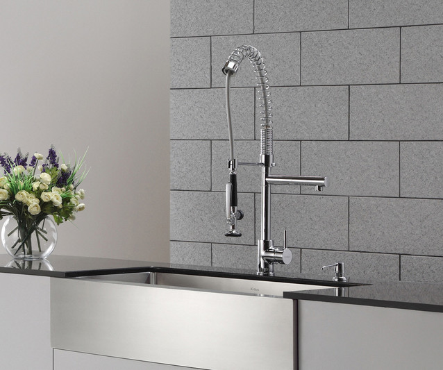 Known for outstanding quality and dependability, this sink is designed with straight walls and tight-radius corners to create a contemporary look in any kitchen.