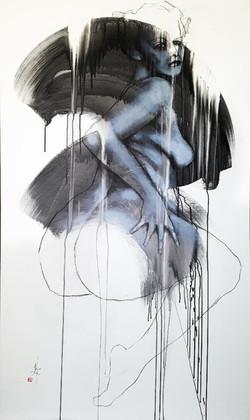 Sculpture sur tache _Femme_