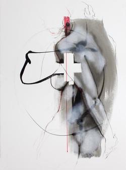 """sculpture sur tache """"à ma croix"""