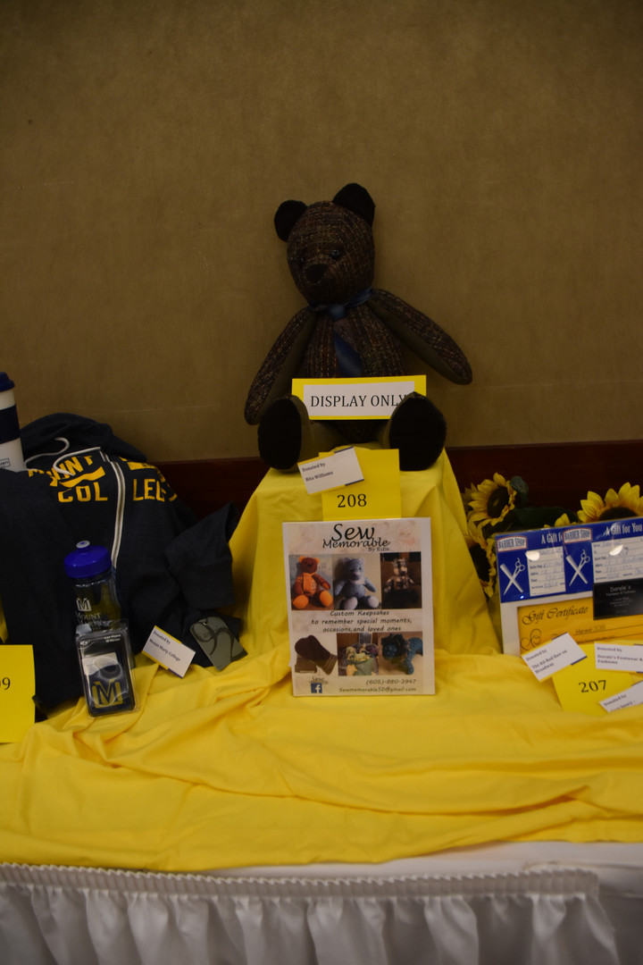 Lots of fun auction items!