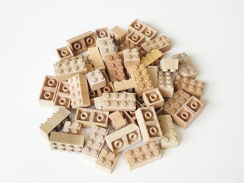 48 Peças de madeira