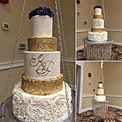 Suspended wedding cake, Hanging Wedding Cake, Chandelier Wedding Cake