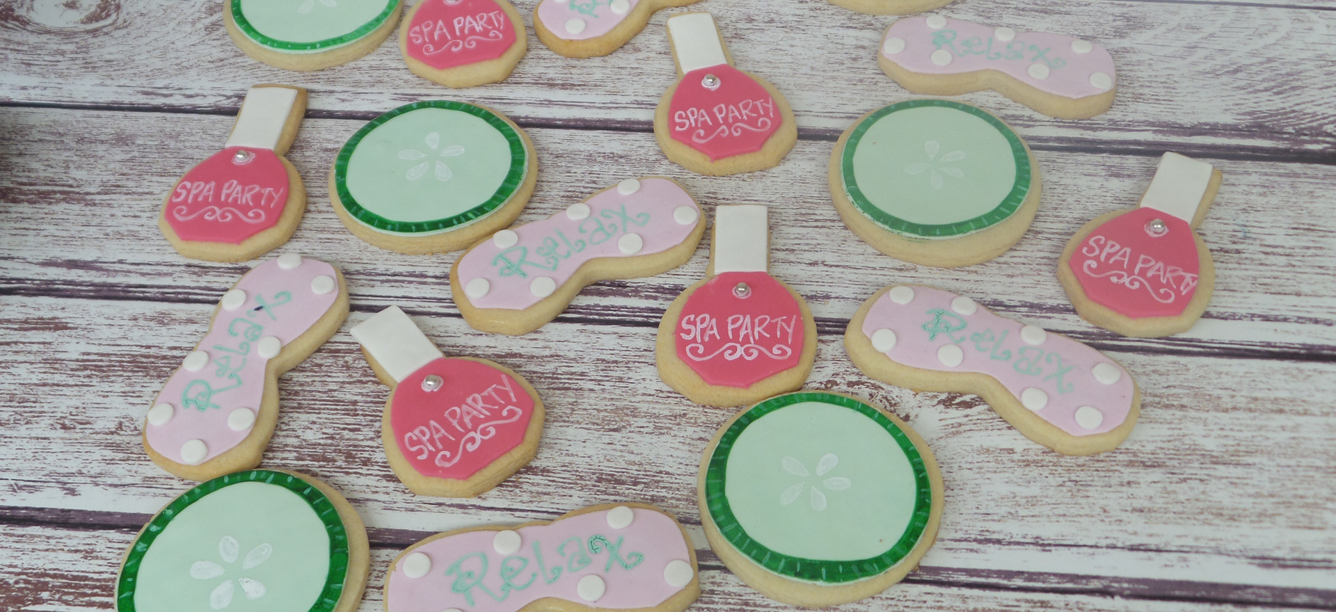 Spa Themed Sugar Cookies