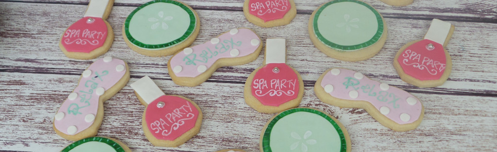 Spa Themed Sugar Cookies